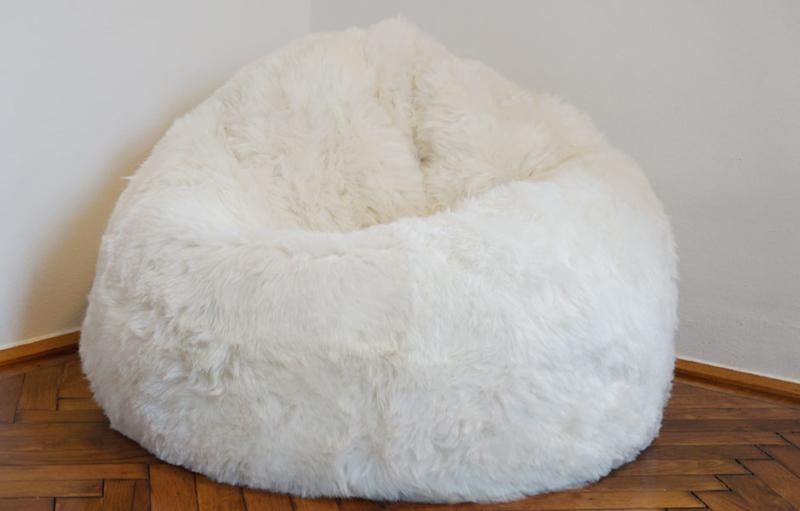 Sitzsack aus Fell