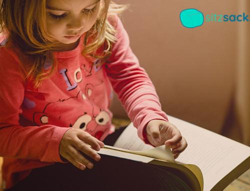 Mit Kindersitzsack Leseecke einrichten